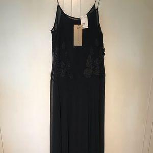 H&M Black Autumn Collection 2013 Maxi Dress Sz 12
